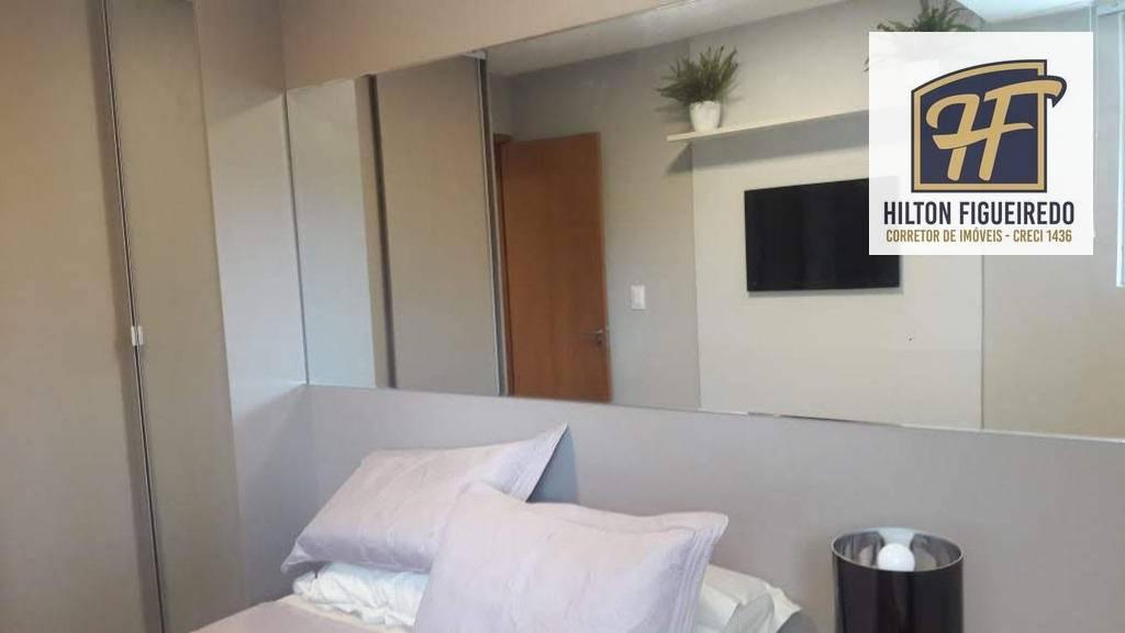 Apartamento com 1 dormitório para alugar, 38 m² por R$ 1.600/mês - Bessa - João Pessoa/PB