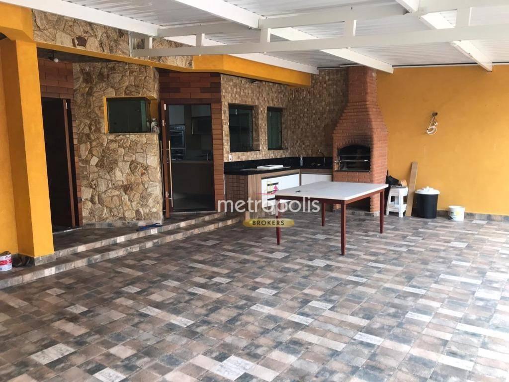Sobrado com 3 dormitórios+ salão Comercial à venda, 296 m² por R$ 1.600.000 - Santa Maria - São Caetano do Sul/SP