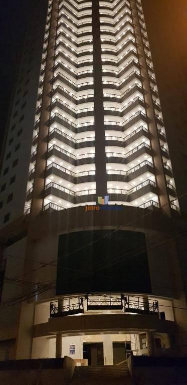 Apartamento com 2 dormitórios à venda, 91 m² por R$ 303.800 - Canto do Forte - Praia Grande/SP
