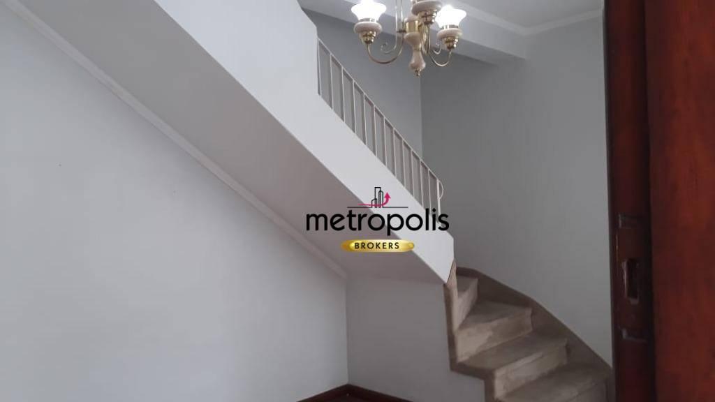 Sobrado com 2 dormitórios para alugar, 81 m² por R$ 2.300/mês - Santa Maria - São Caetano do Sul/SP