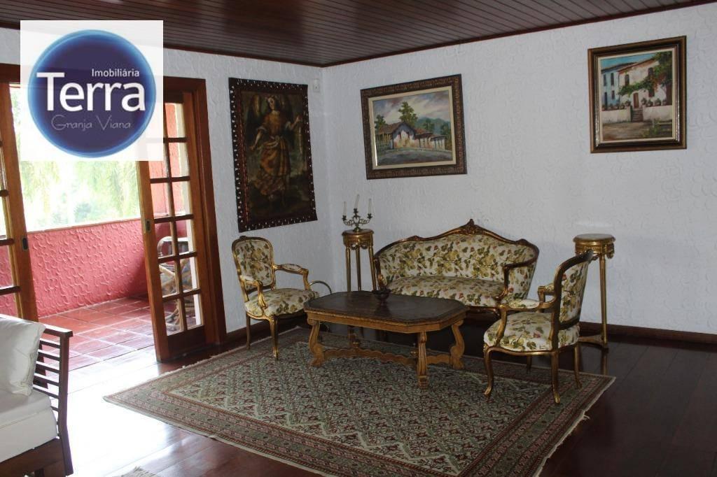 Casa com 4 dormitórios à venda e locação, 620 m² por R$ 3.000.000 - Fazendinha - Granja Viana.