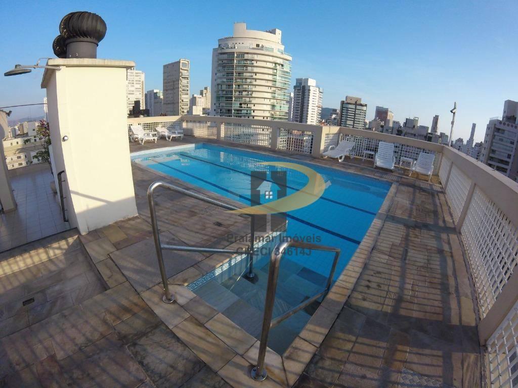 Flat à venda, 67 m² por R$ 310.000,00 - Gonzaga - Santos/SP