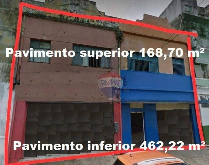 (Galpão/Casa comercial) em área no Centro da cidade podendo atender a várias necessidades - são 630,92 m².