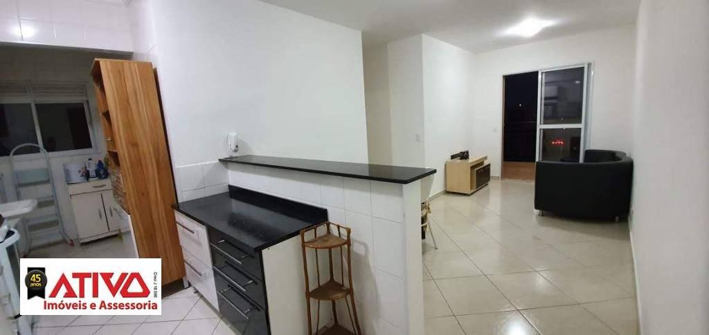 Apartamento com 2 dormitórios para alugar, 52 m² por R$ 1.523,00/mês - Assunção - São Bernardo do Campo/SP