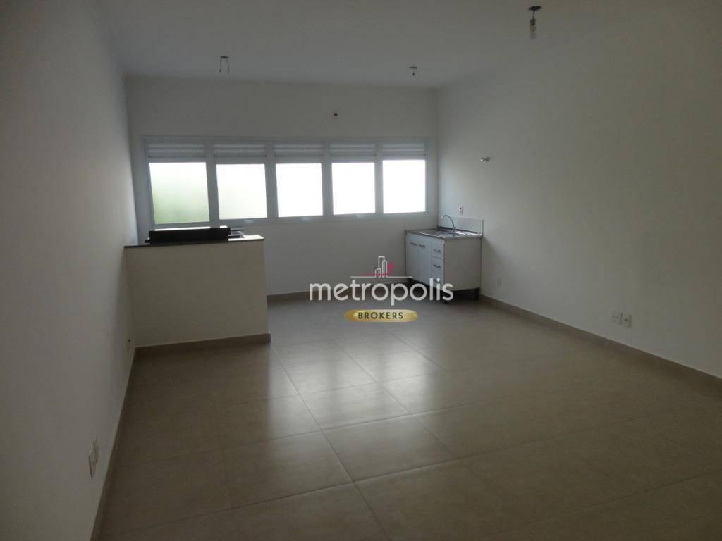 Kitnet com 1 dormitório para alugar, 50 m² por R$ 1.100/mês - Nova Gerti - São Caetano do Sul/SP