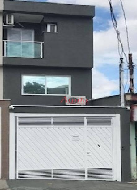 Sobrado com 3 dormitórios à venda, 114 m² por R$ 610.000 - Vila Curuçá - Santo André/SP