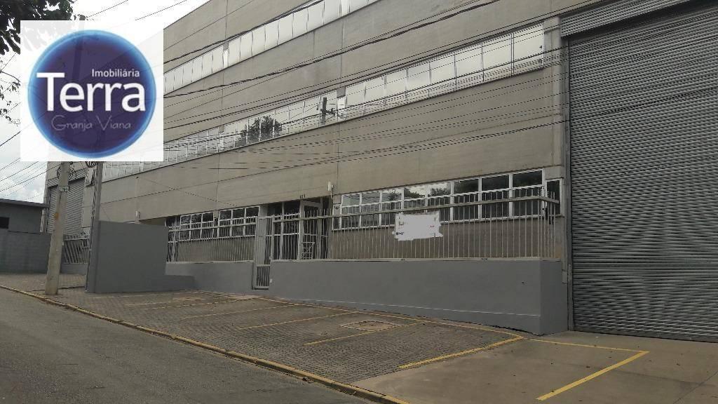 Galpão industrial para locação, Jardim Colibri, Granja Viana.