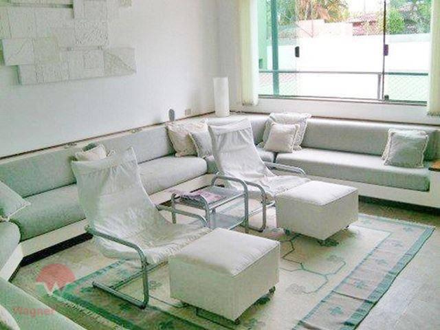 sobrado no jardim acapulco em guarujá, sala 4 ambientes com home theater, 6 suítes, cozinha com...
