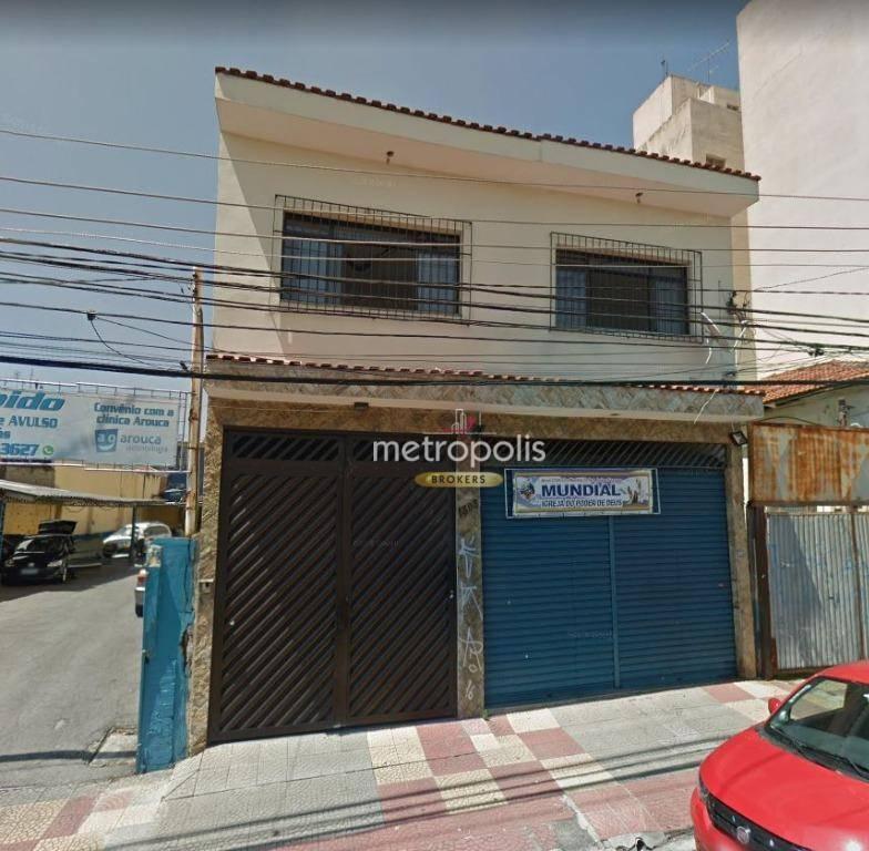 Sobrado com 4 dormitórios para alugar, 246 m² por R$ 4.000/mês - Cerâmica - São Caetano do Sul/SP