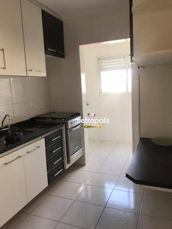 Apartamento com 2 dormitórios para alugar, 60 m² por R$ 1.400/mês - Vila Valparaíso - Santo André/SP