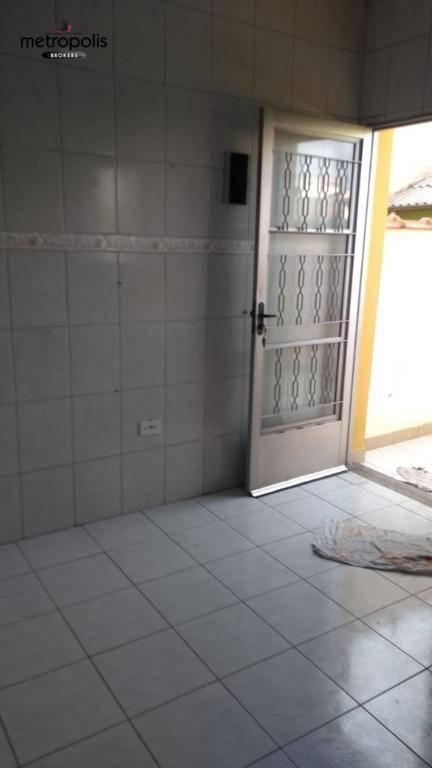 Casa com 1 dormitório para alugar, 45 m² por R$ 1.100/mês - Jardim - Santo André/SP