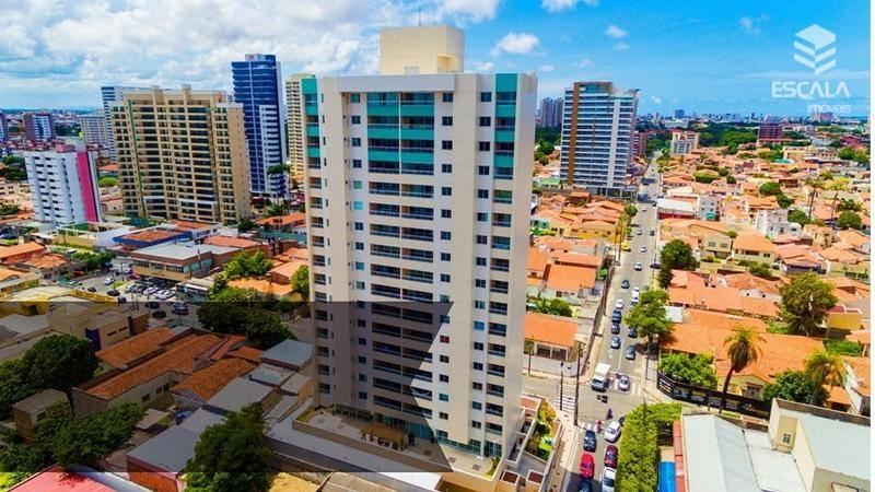 Apartamento com 3 quartos à venda, 117 m², móveis projetados, área de lazer. Novo, 2 vagas - Fátima - Fortaleza/CE