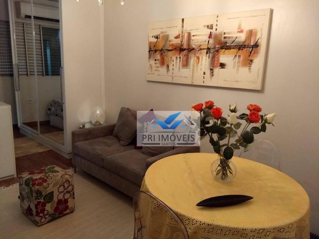 Sala Living com 1 dormitório à venda, 31 m² por R$ 170.000 - Centro - São Vicente/SP