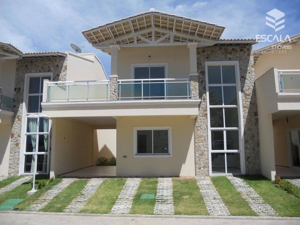 Casa duplex com 4 quartos à venda, 148 m², área de lazer, financia - Lagoa Redonda - Fortaleza/CE