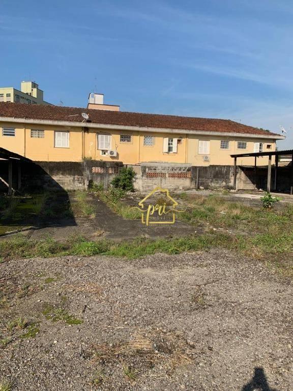 Área para alugar, 1500 m² por R$ 6.000,00/mês - Macuco - Santos/SP