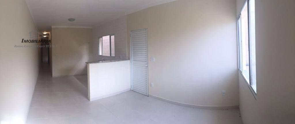 linda casa moderna, térrea, nova, 2 dormitórios, banheiro social, sala, cozinha com gabinete, área de serviço...
