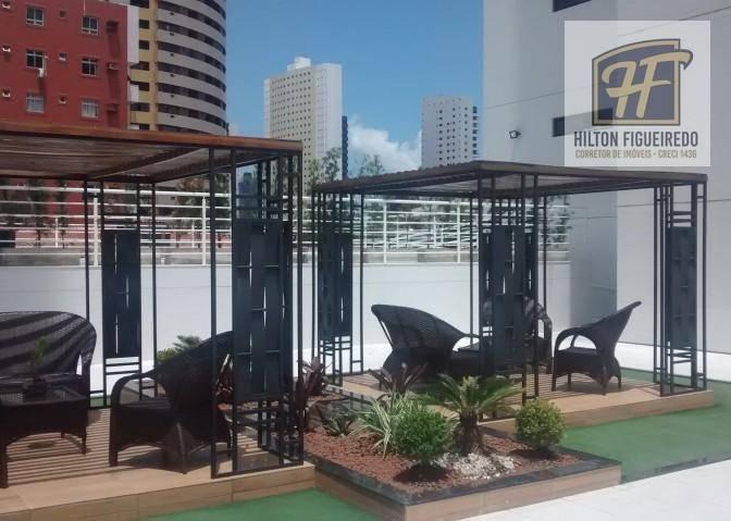 Apartamento com 3 dormitórios para alugar, 92 m² por R$ 1.941/mês - Manaíra - João Pessoa/PB