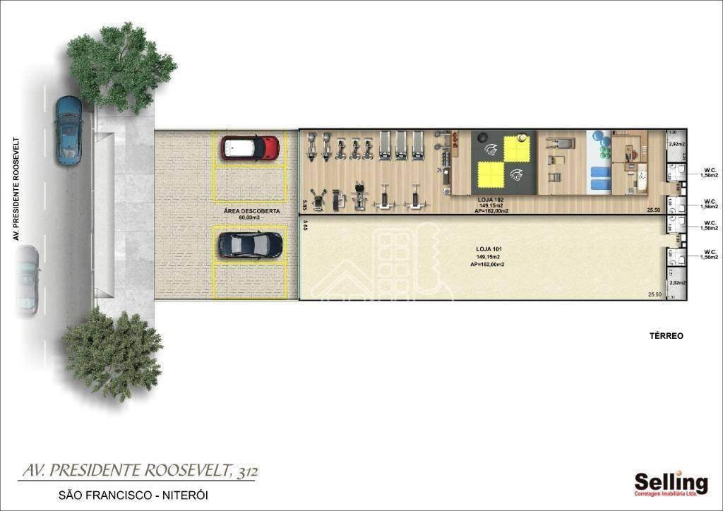 Loja para alugar, 300 m² por R$ 12.000/mês - São Francisco - Niterói/RJ