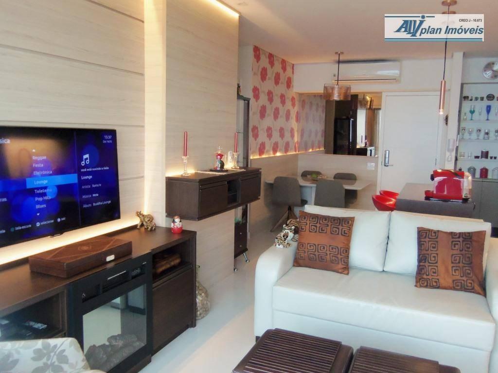 Apartamento com 2 dormitórios à venda, 81 m² por R$ 1.250.000,00 - José Menino - Santos/SP