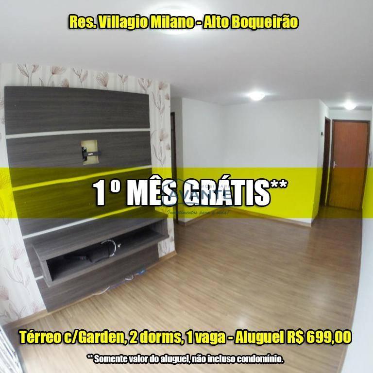 Apartamento - Alto Boqueirão, Res. Villagio Milano, 2 Dormitórios, 1 Vaga - 70m²