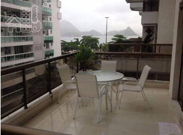 Apartamento com 2 dormitórios para alugar, 99 m² por R$ 2.800/mês - Charitas - Niterói/RJ