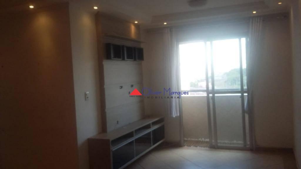 Apartamento com 3 dormitórios para alugar por R$ 1.400/mês - Continental - Osasco/SP