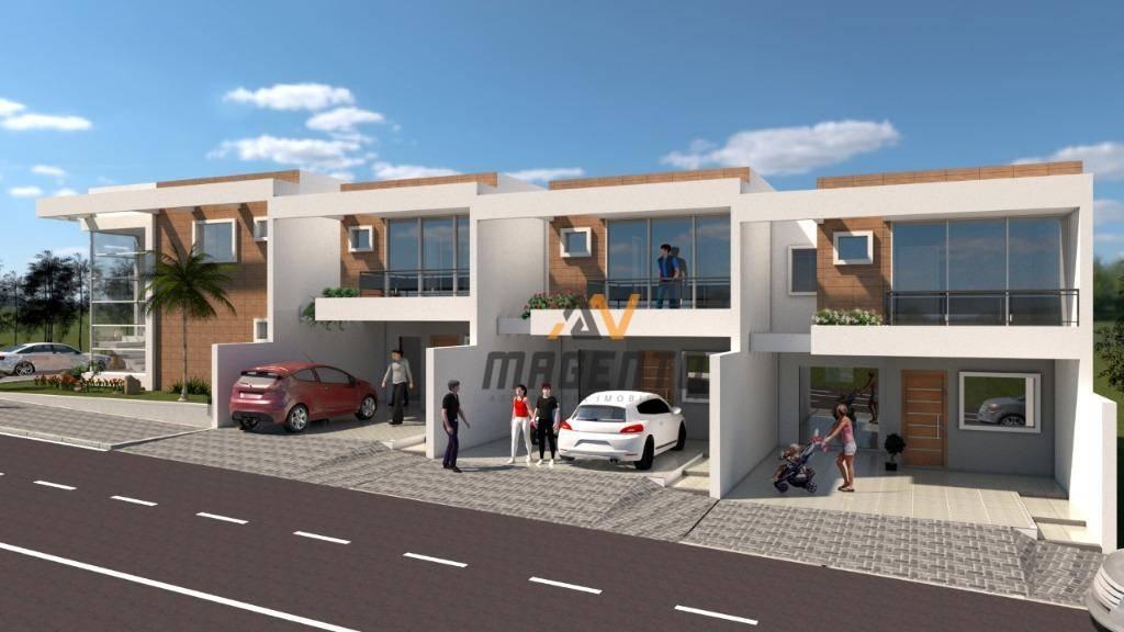 Sobrado em construção com 3 suítes à venda, 130 m² por R$ 470.000 - Pioneiros Catarinenses - Cascavel/PR