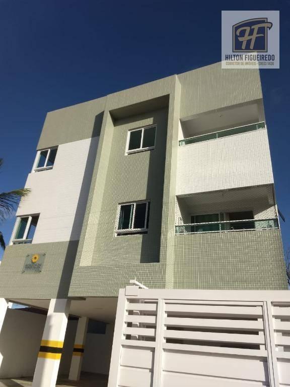 Apartamento com 2 dorm. s/01 suite e varanda pra o nasc. à venda, 55 m² por R$ 160.000 - Bessa - João Pessoa/PB