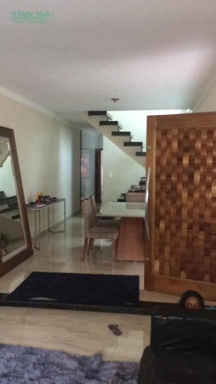 Sobrado com 3 dormitórios para alugar, 165 m² por R$ 2.300/mês - Jardim Adriana - Guarulhos/SP
