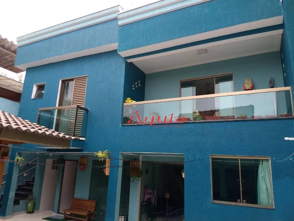 Sobrado à venda, 258 m² por R$ 900.000,00 - Parque Erasmo Assunção - Santo André/SP