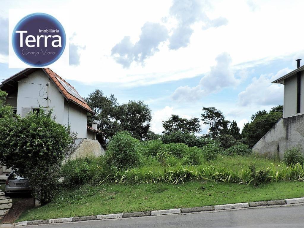 Terreno residencial à venda, Aldeia da Fazendinha, Granja Viana.