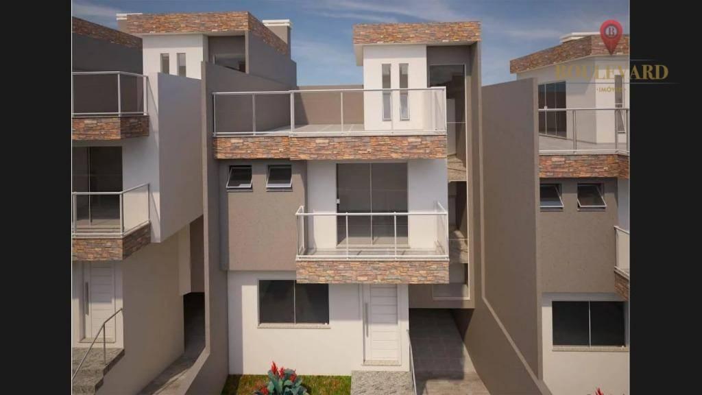 Sobrado com 3 dormitórios à venda, 173 m² por R$ 648.000,00 - Uberaba - Curitiba/PR