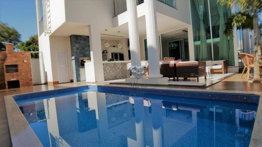 Sobrado 4 Suítes + Home, 375 m², mobiliado, c/ lazer no Mirante do Lago