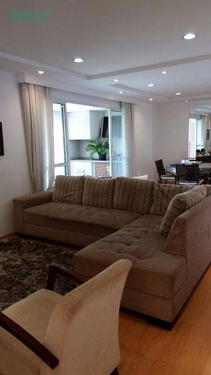 Apartamento residencial à venda, 3 suítes, 2 vagas. Jardim Z