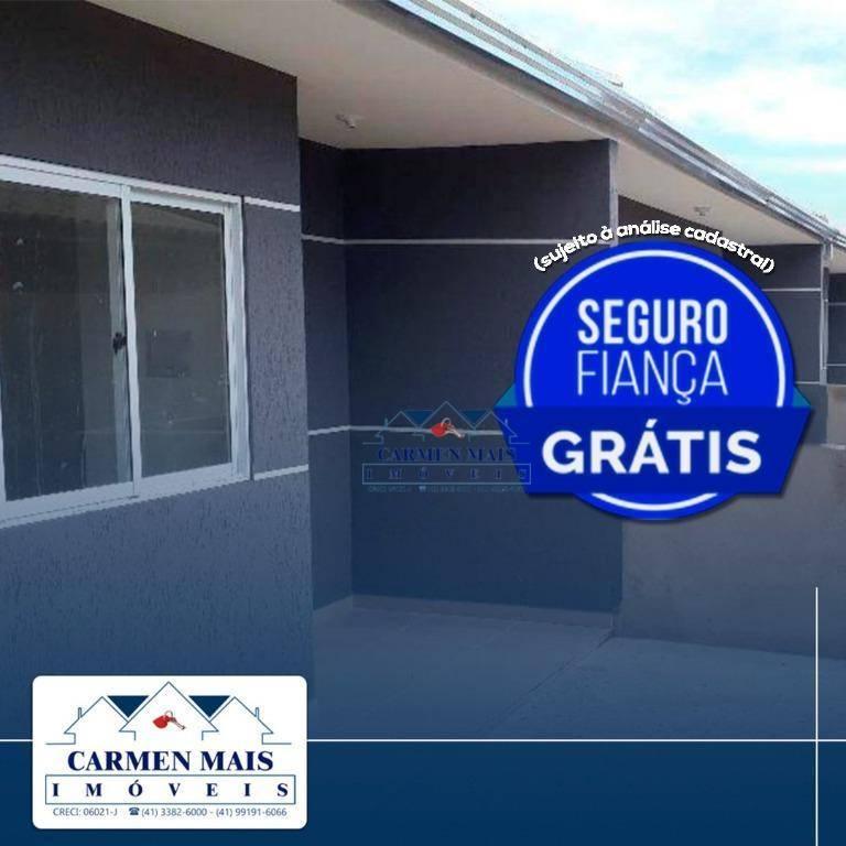 Casa nova com excelente acabamento no Guatupê em São José dos Pinhais.