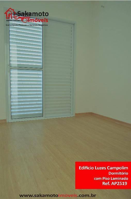 apartamento para venda e locação no edifício luzes campolim em sorocaba!apartamento novo, recém entregue, com lazer...