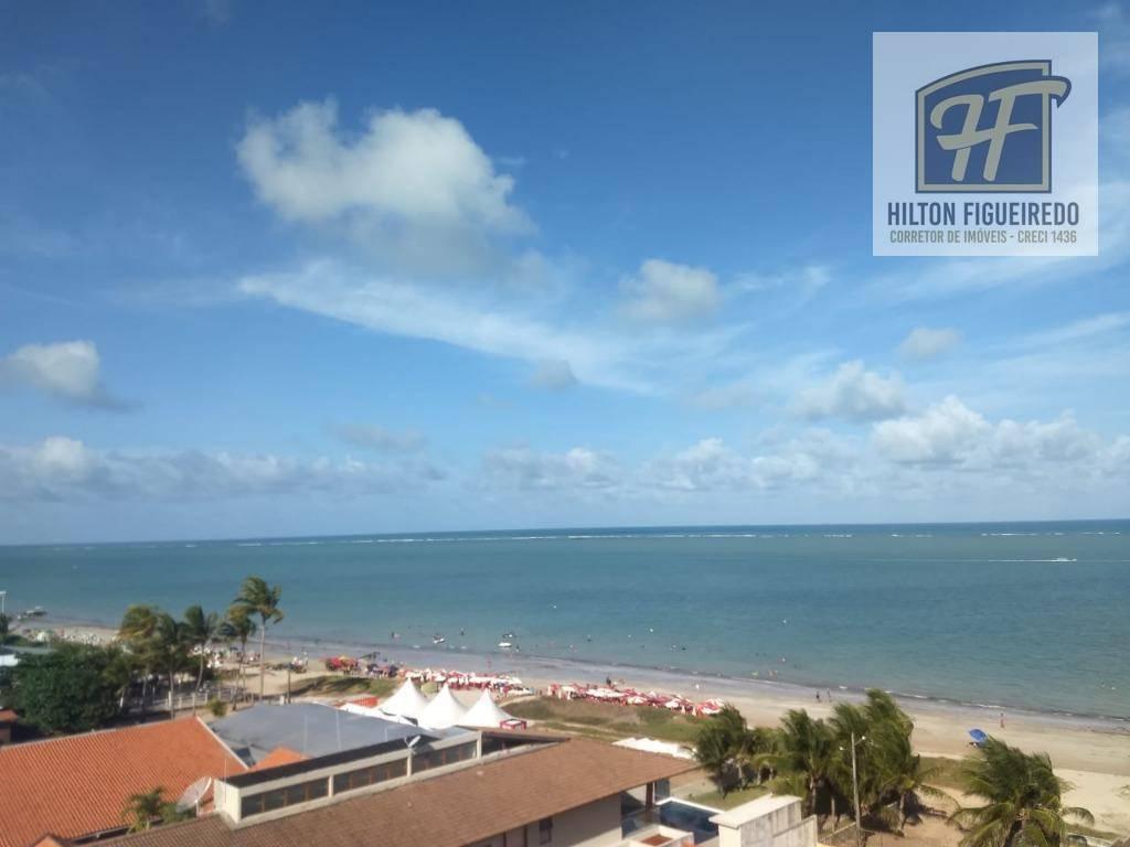 Apartamento beira mar com 3 dormitórios para alugar, 104 m² por R$ 3.200/mês - Areia Dourada - Cabedelo/PB