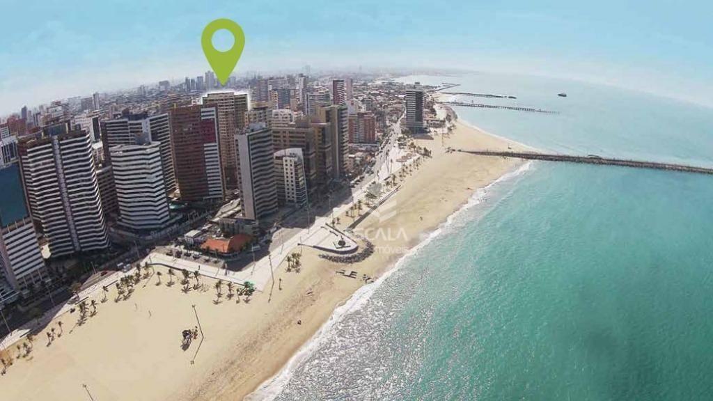 Apartamento 3 quartos à venda no Meireles, a 250m da Beira mar,75m2, 1 suíte, 2 vagas, lazer. Financia.