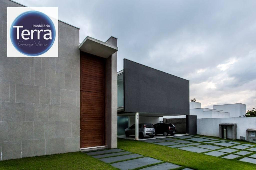 Casa com 4 dormitórios à venda e locação, 580 m² por R$ 4.500.000 - São Paulo II - Granja Viana.
