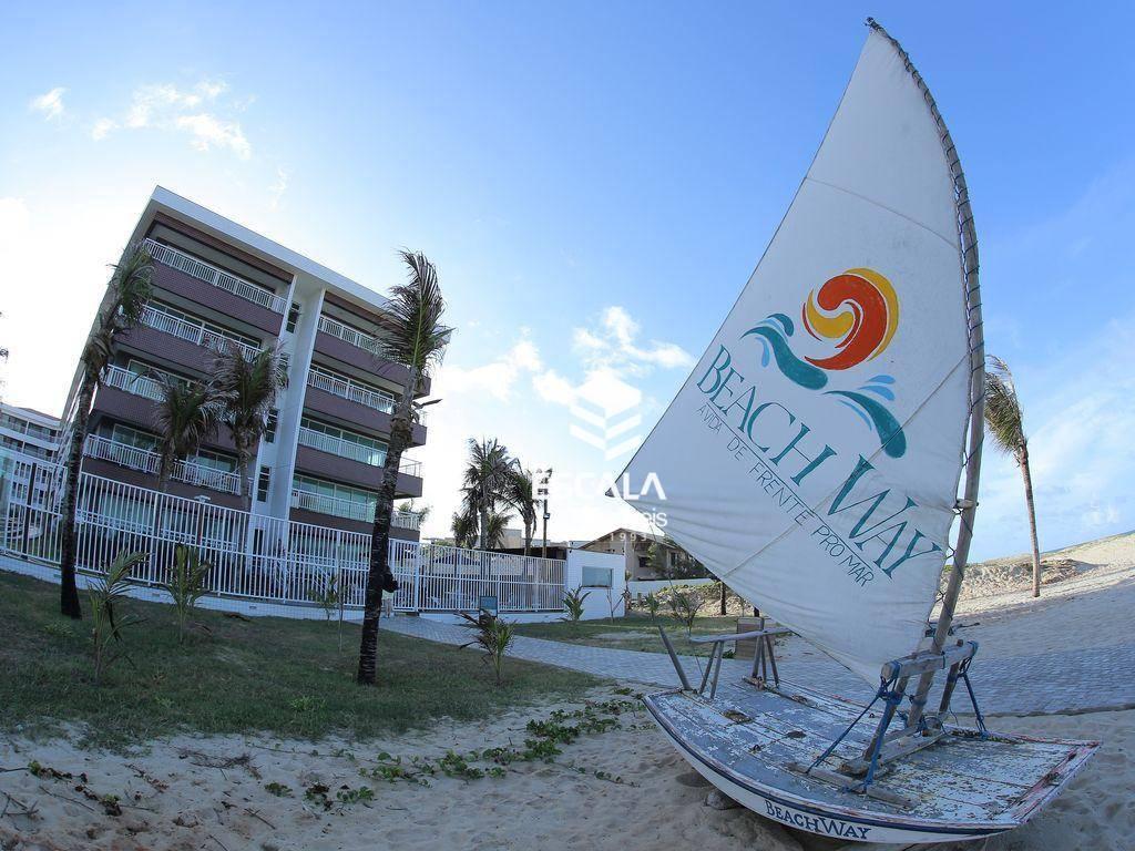 Apartamento com 2 quartos à venda, 57 m², novo, beira mar, área de lazer, financia ? porto das dunas - Aquiraz/CE