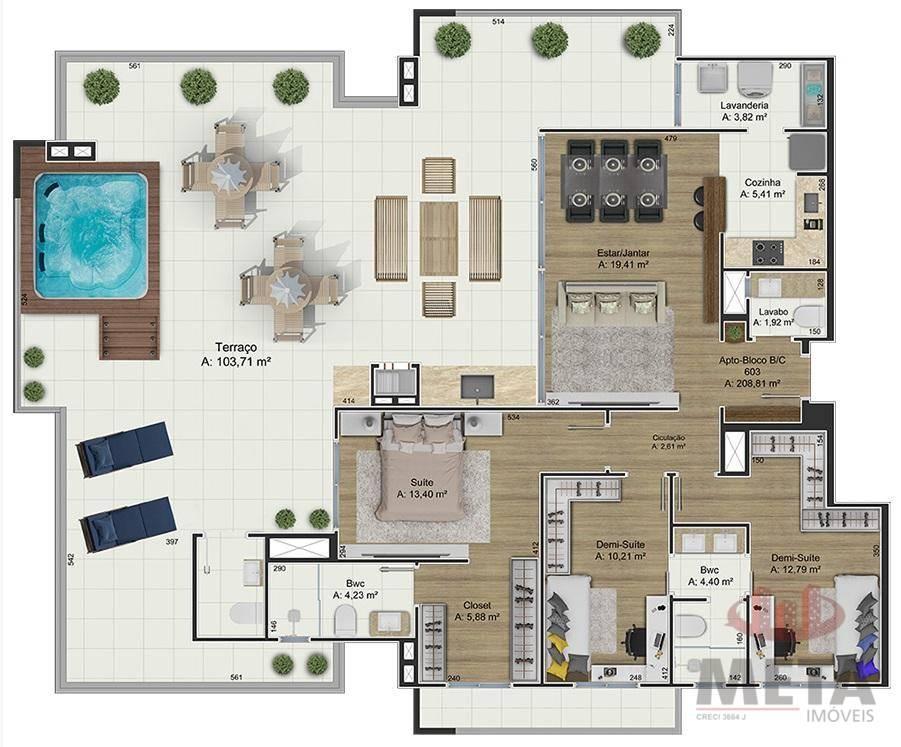 Apartamento com 3 Dormitórios à venda, 75 m² por R$ 405.374,37