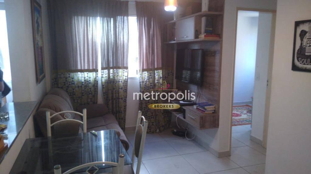 Apartamento para alugar, 45 m² por R$ 1.300,00/mês - Taboão - São Bernardo do Campo/SP