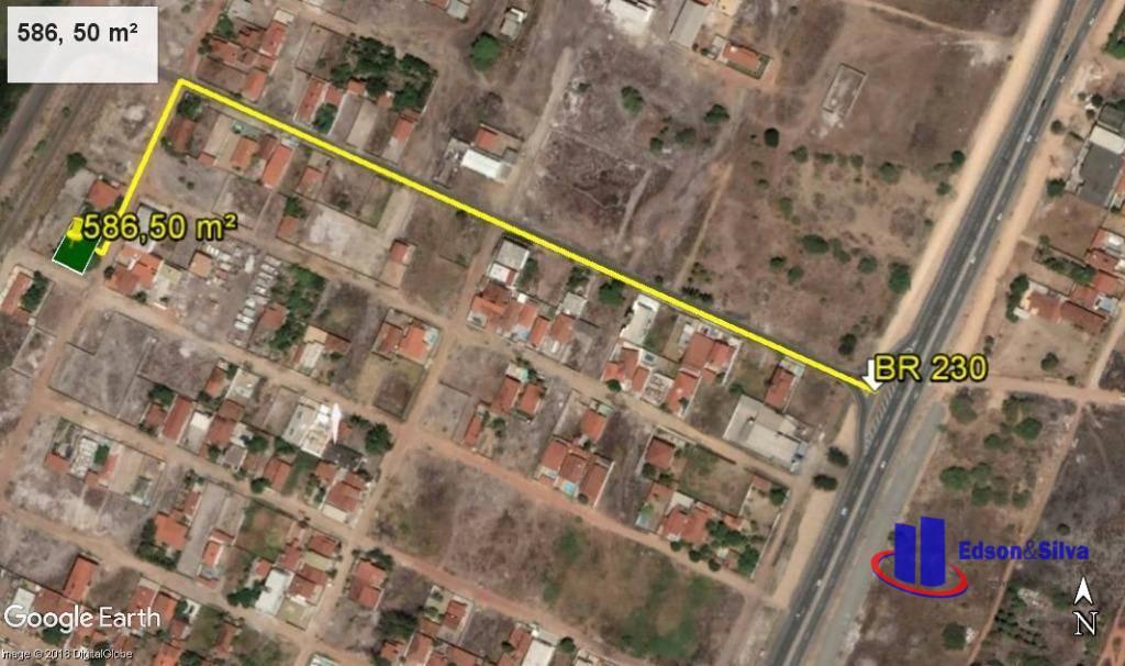 Terreno de 586 m² com casa à venda, Recanto do Poço, Cabedelo.