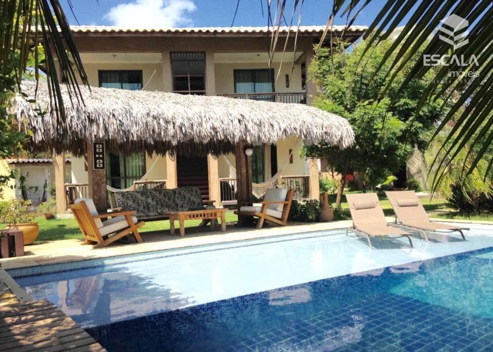 Casa duplex com 4 quartos à venda, 300 m², 6 vagas, terreno grande - Cumbuco - Caucaia/CE