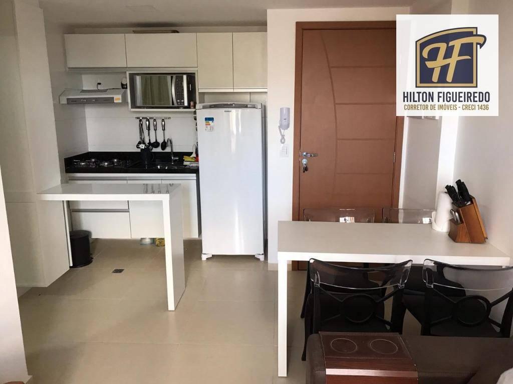 Apartamento com 2 dormitórios para alugar, 57 m² por R$ 2.200/mês - Cabo Branco - João Pessoa/PB