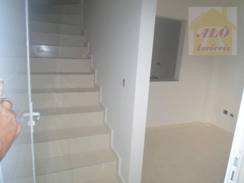 Sobrado com 1 dormitório à venda, 35 m² por R$ 155.000 - Tude Bastos (Sítio do Campo) - Praia Grande/SP