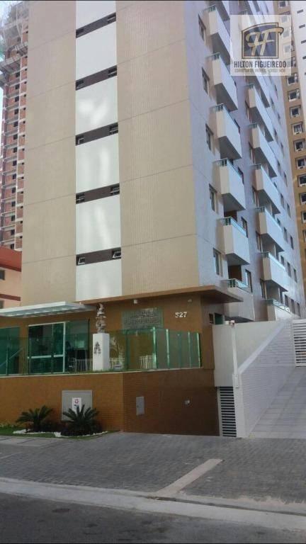 Apartamento com 2 dormitórios para alugar, 60 m² por R$ 1.600/mês - Tambaú - João Pessoa/PB