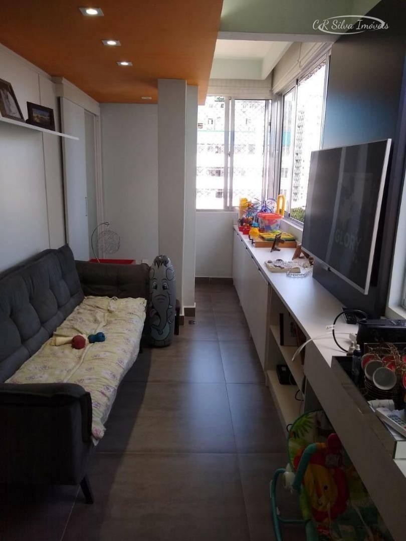 Apartamento com 2 dormitórios à venda, 60 m² por R$ 180.000 - Centro - São Vicente/SP