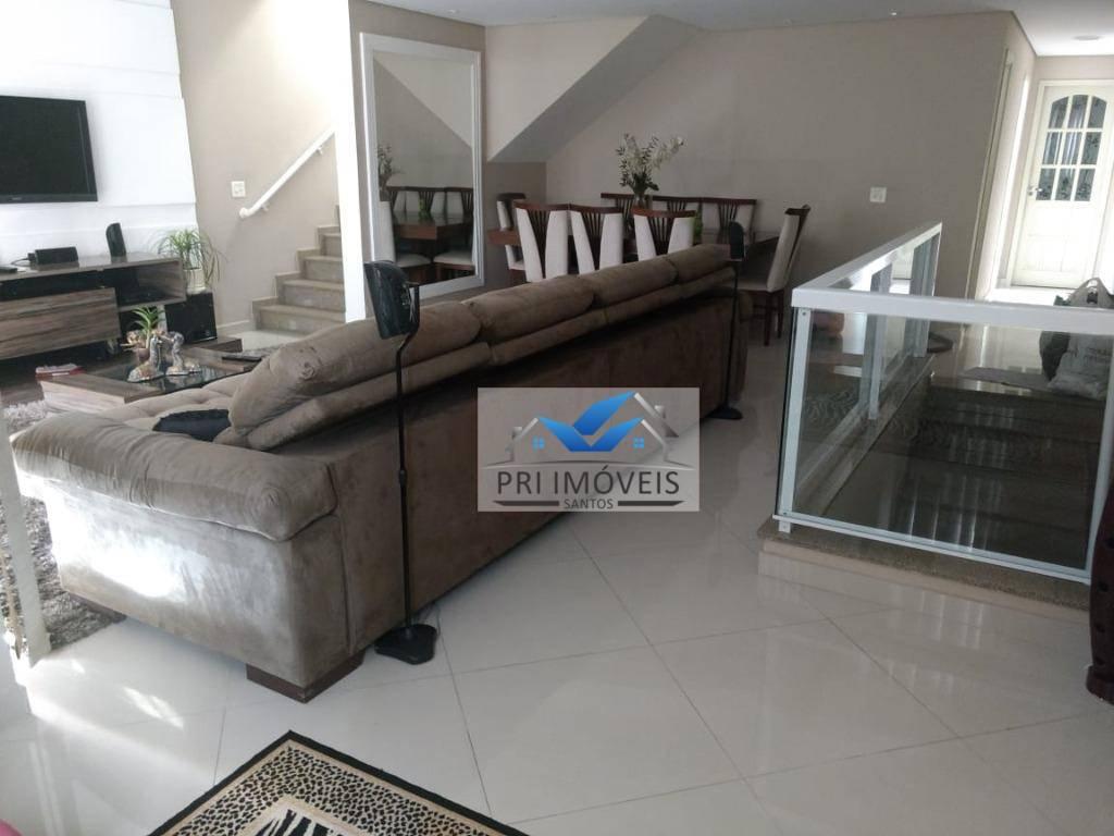 Sobrado com 3 dormitórios à venda, 242 m² por R$ 1.300 - Embaré - Santos/SP