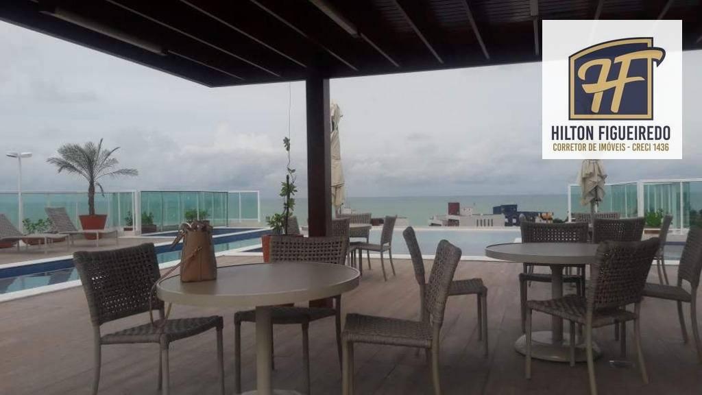 Apartamento com 1 dormitório para alugar, 38 m² por R$ 1.600,00/mês - Bessa - João Pessoa/PB
